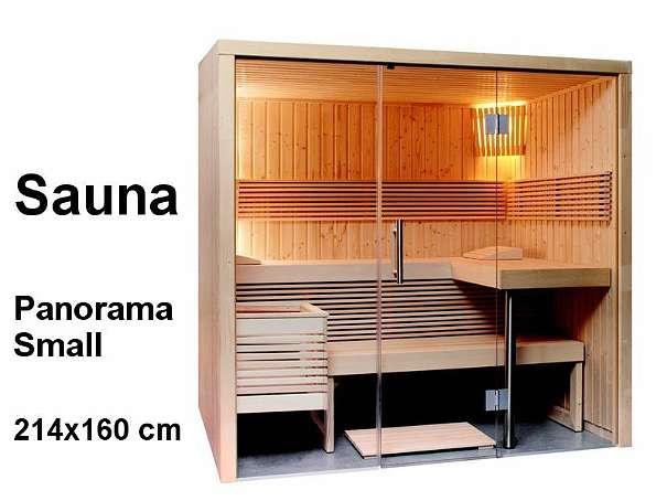 sentiotec sauna bausatz panorama small 214x160cm saunakabine 4861 sch rfling. Black Bedroom Furniture Sets. Home Design Ideas