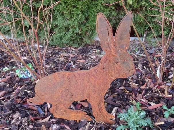 Gartendekoration hase aus stahl rost 23cm 17 5141 for Gartendekoration aus rost