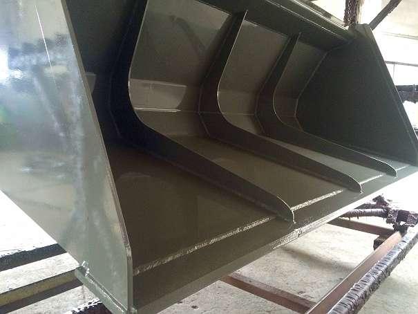 SCHAUFEL XXL - MAXI LEICHTGUTSCHAUFEL - SCHOTTER SCHAUFELN 2400mm / 2.0m3 / 600kg