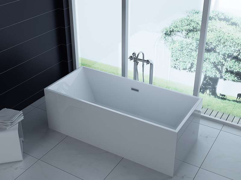 Luxus Freistehende Badewanne 180x80 + Acrylwanne Inkl. Ablauf Und Überlauf  (Whirlpool, Dusche,