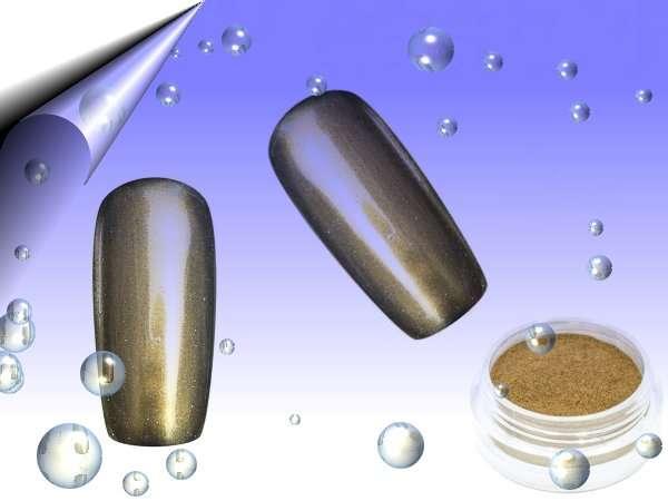 Mirror Chrom Pigment Pulver Gold - Wien - Die Benutzung des Mirror Chrome Puders Gold ( Spiegel Effekt Glitterstaub ) ist sehr einfach. UV Farbgel unter UV Licht aushärten, Perfect Sealer ( ohne Schwitzschicht ) auftragen - aushärten, das Mirror Chrome Pigment Silber in ausgehärtetes Pe - Wien