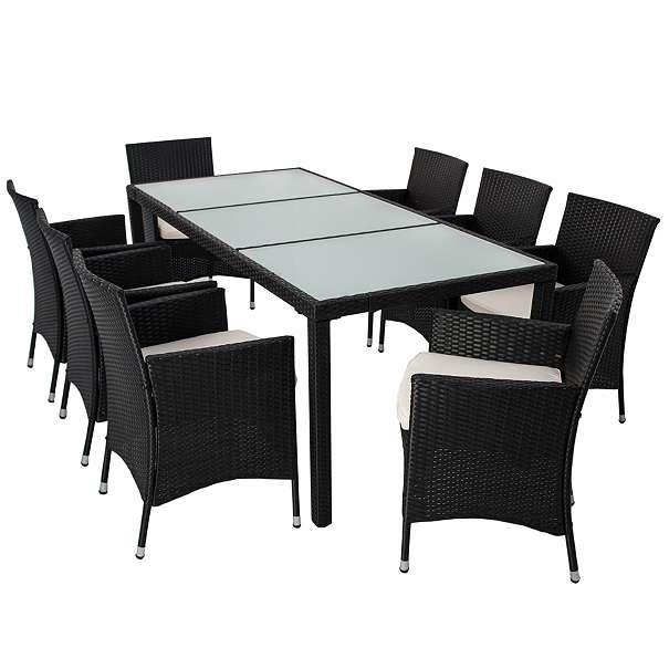 gartenmobel polyrattan essgruppe. Black Bedroom Furniture Sets. Home Design Ideas