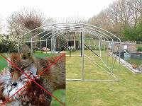 Rahmen mit 2 Türen ideal 6x3,5x2 voliere