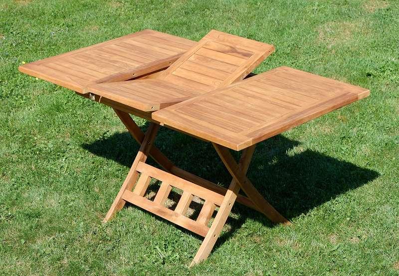 teak ausziehtisch 100 140 x 80cm klappbar holztisch klapptisch gartentisch tisch aus 219. Black Bedroom Furniture Sets. Home Design Ideas