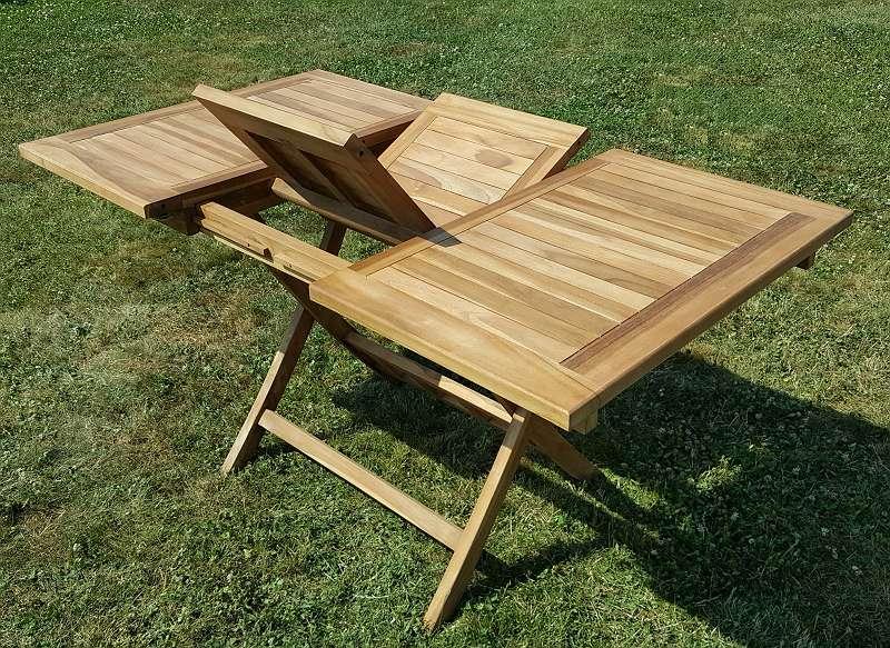 teak ausziehtisch 100 140 x 80cm klappbar holztisch gartentisch tisch aus teakholz aves 239. Black Bedroom Furniture Sets. Home Design Ideas