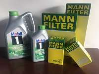 MANN Filtersatz: Ölfilter, Luftfilter, Kraftstofffilter, Innenraumfilter für AUDI SEAT SKODA VW- 49,00 exkl. Motoröl