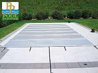 Pool Rollabdeckung Klassik 5,30 x 3,15 m (hellgrau) - ABVERKAUF!