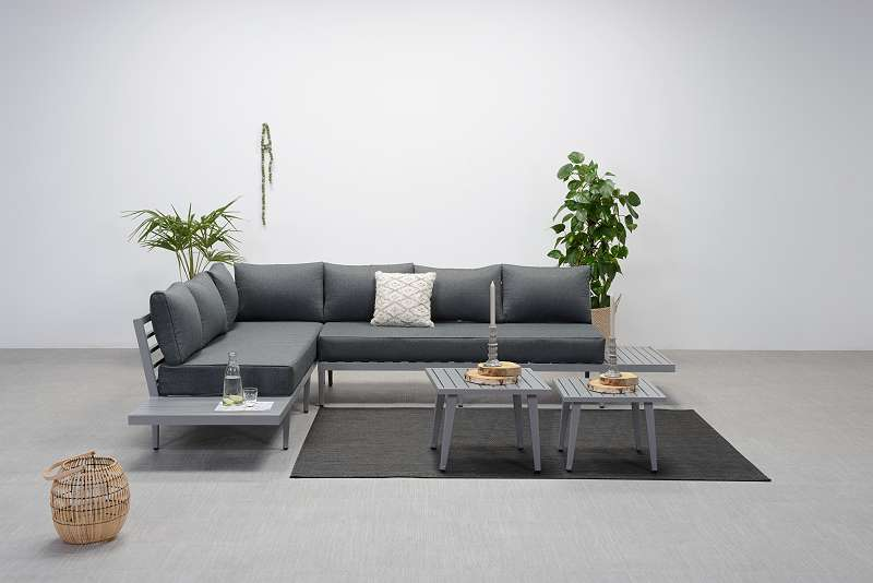 Lounge Sitzgruppe Gartenmöbel GARDEN IMPRESSIONS CALIFORNIA ALU ...