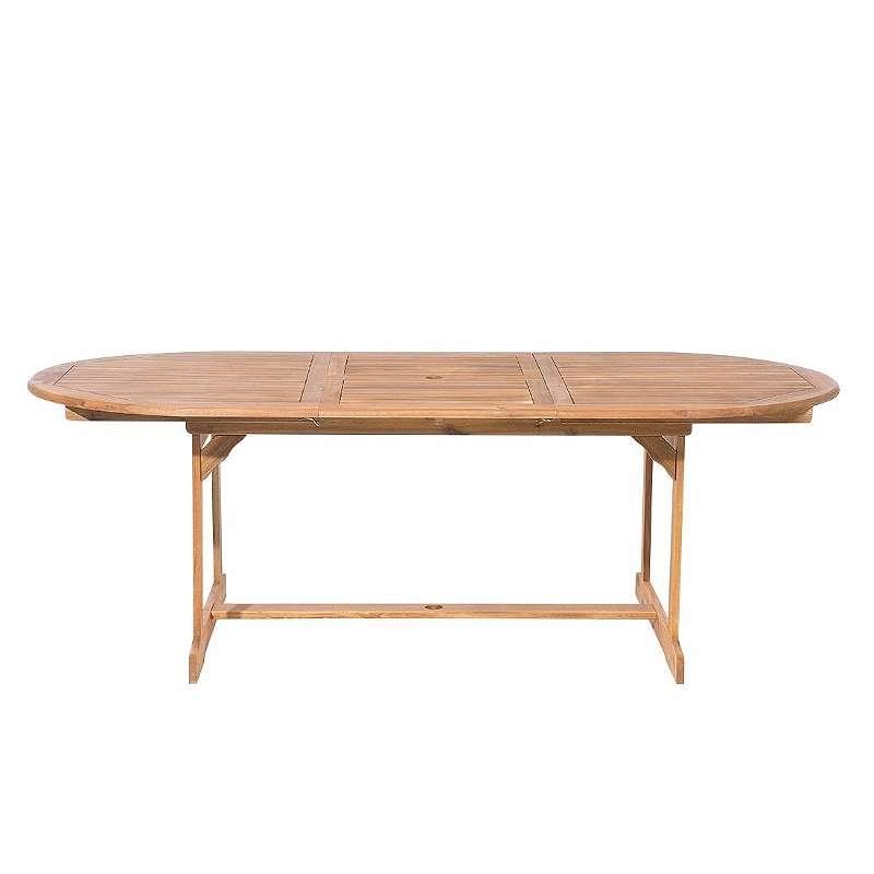 Gartentisch Holz Hellbraun 160 220 X 100 Cm Ausziehbar Maui 319
