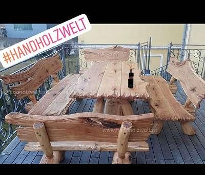 #handholzwelt. , gartengarnitur vollholz, rustikal, urig,