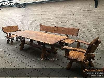 Brutalrustikal. Handholzwelt, Eichentisch, Eiche Vintage, Industrial, Holzmöbel, Holztisch Holzbank, gebürstet,
