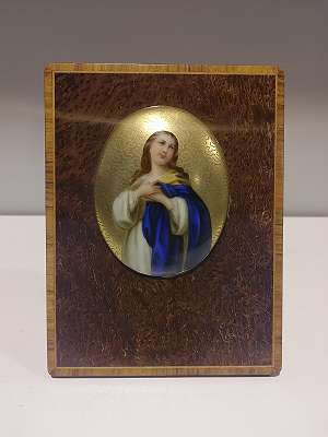 Porzellan-Bildchen Hl. Maria