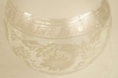 Großer, runder Lampenschirm im Antiklook aus geätztem Glas – Höhe ca. 20 cm – DM für Aufhängung ca. 10 cm Lampe Leuchte Licht Kandelaber Antiklook Kugel Ballon Schirm Aufsatz