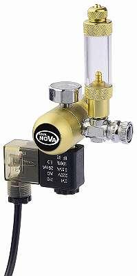 CO2 Druckminderer mit Nachtabschaltung und Blasenzähler