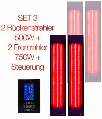 B-Ware SET 4 Infrarotstrahler + Steuerung für Infrarotkabinen, Wärmekabinen, Vollspektrumstrahler, Rotlichtstrahler