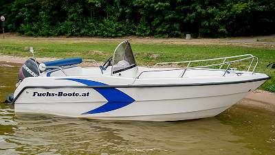 480 Deluxe Fuchs Motorboot Angelboot Fischerboot GFK Boot