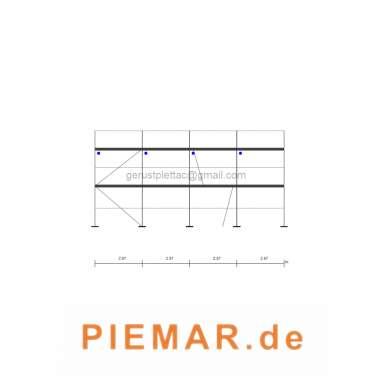 Stahlboden L 2,57 Typ Layhergerüst ca. 49 m² Fassadengerüst Typ Layher Gerüst Stahlrahmen Kompatibiles Baugerüst NEU
