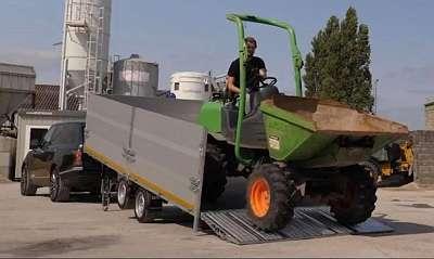 NEU Eduard Maschinentransporter kippbar 5x 2 m 30 cm Bordwand, Auffahrklappe, 2700 kg 63 cm Ladehöhe