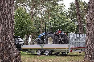 0% Finanzierung NEU Eduard Maschinentransporter kippbar 5x 2 m 30 cm Bordwand, Auffahrklappe, 2700 kg 63 cm Ladehöhe