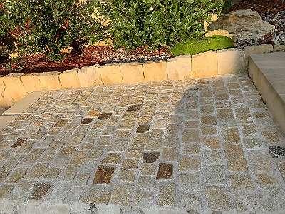 Pflastersteine - Granit gelb-grau & Granit rein gelb (sortiert) - Naturstein