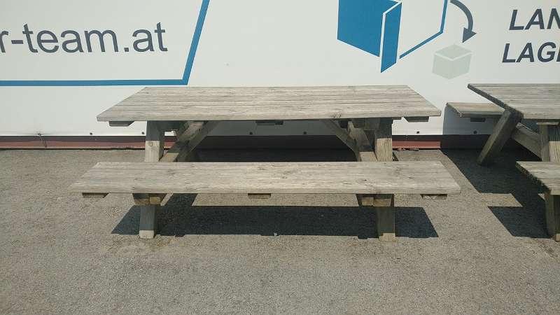 Fabulous Gartentisch-Tisch-Bank-Sitzgruppe-Gartenmöbel-Garnitur-Tisch mit 2 EP05