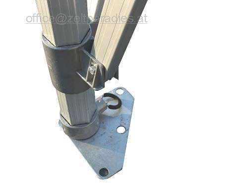 Fuß mit Stahlplatte
