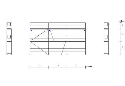 Baugerüst NEU Alurahmen NEU Alurahmen Fassadengerüst 58 qm Gerüst Typ Plettac Durchsieg 3,0 m