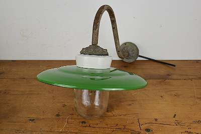 Antike Hof Lampe / Antike Emaille Lampe