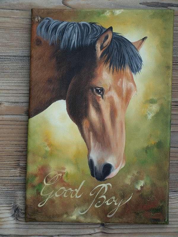 Tierportrait nach Foto malen lassen - perfektes Geschenk !