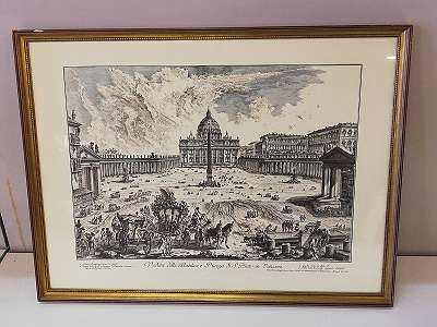 Nach Piranesi, Giovanni Battista: Petersplatz in Rom