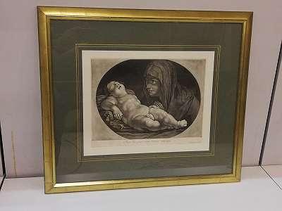 Madonna mit Kind- Kupferstich