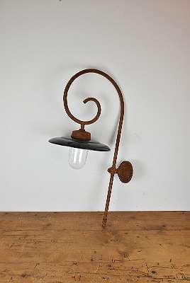 Antike Laterne / Antike Emaille Lampe / Hof Lampe