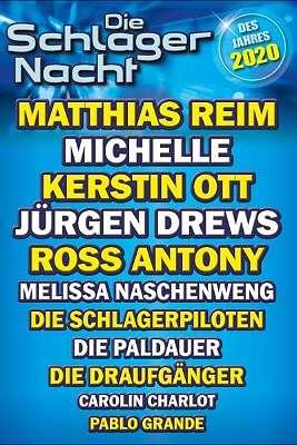 Die Schlagernacht des Jahres 2020 Wiener Stadthalle 21.11.2020 Beginn 16:00 Uhr * Topsitzplätz Orchester Reihe 7