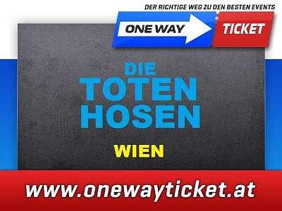 Die Toten Hosen live in der Wiener Stadthalle 04.07.2020 Stehplätze Sitzplätze Unterrang rasch sichern Alles ohne Strom Tour 2020