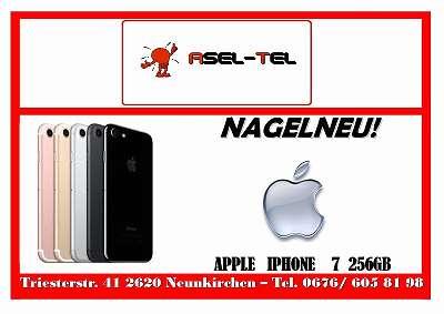 AKTION NAGELNEU NOCH VERSIEGELT! WERKSOFFENE APPLE IPHONE 7 256 GB IN BLACK!