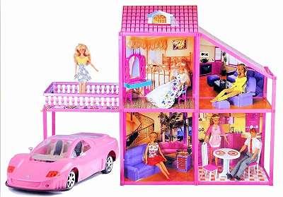 Puppenhaus Barbiehaus mit Auto neu Original verpackt