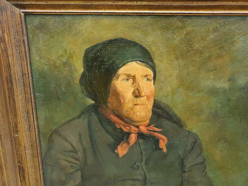 FRITZ RAUPP Porträt einer alten Bäuerin vermutlich Tirol / Bayern um 1900 in ihrer Tracht .