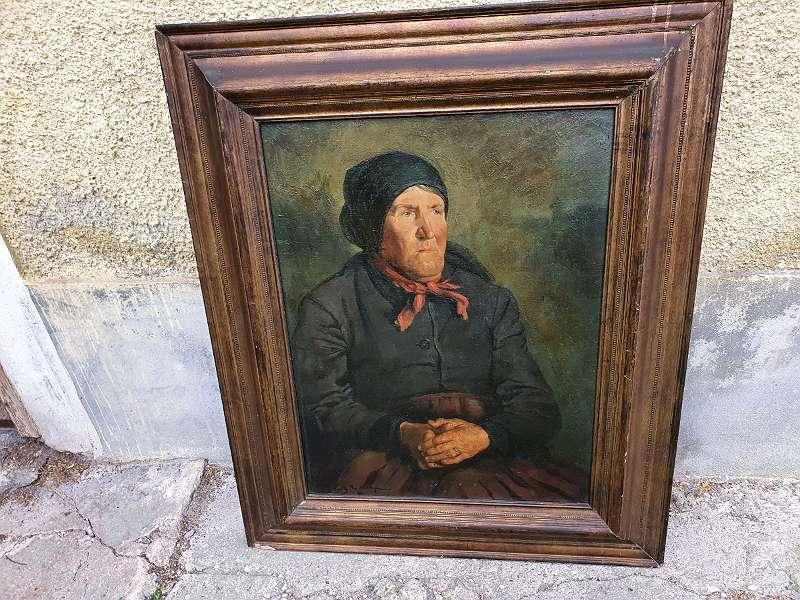 FRITZ RAUPP Porträt einer alten Bäuerin vermutlich Tirol / Bayern um 1900
