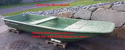 LAGERND - SHARK 460 - Wallerboot Angelboot Waller Boot Fischerboot Motorboot Omegaplast Boot