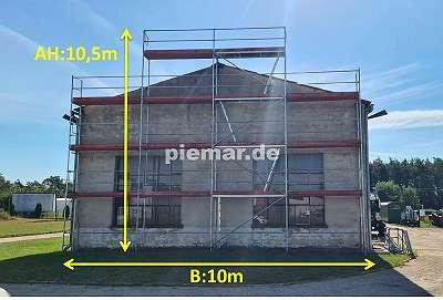 Gerüst Typ Plettac 97qm Bordbretter Stahlböden 2,5 Baugerüst NEU Fassadengerüst