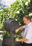 Mostfass Weinfass Fass in Holzoptik Holzfass Optik mit Hahn und Deckel