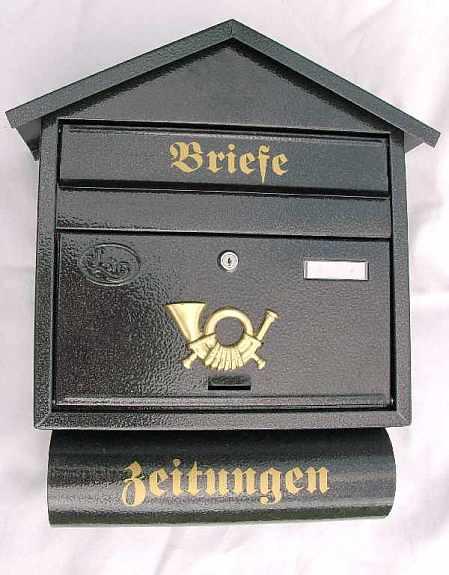 briefkasten metall anthrazit postkasten zeitungsrolle 8. Black Bedroom Furniture Sets. Home Design Ideas