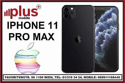 IPHONE 11 PRO MAX 256GB SPACE GRAY, NEU`wertig`, A1 SIMLOCK, EU-WARE, MIT HERSTELLER GARANTIE, PLUS MOBILE !