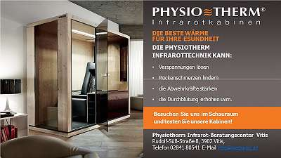 TOP-AKTIONEN im November - PHYSIOTHERM INFRAROTKABINEN