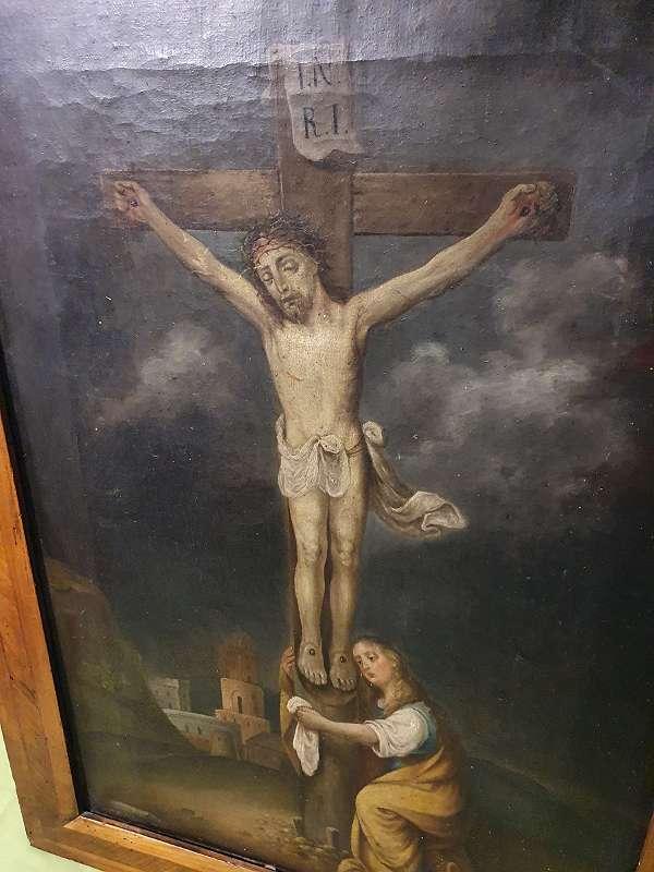 Kreuzigung Christi, Maria Magdalena Gemälde 1824