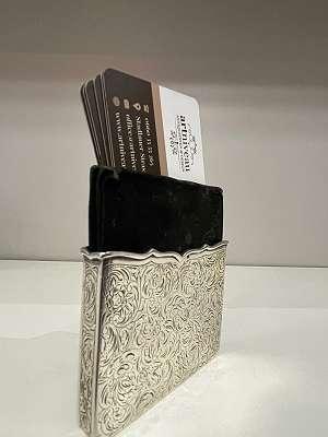 Visitenkarten / Zigarettenetui - Silber