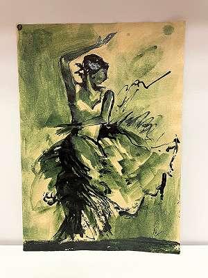 Katharina Clemente* Tuschzeichnung mit Tänzerin