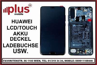HUAWEI LCD / DISPLAY / TOUCH/ GLAS LADEBUCHSE / AKKU - AKKU DECKEL USW. ERSATZ TEILE AB ?29, GARANTIE, PLUS MOBILE !