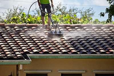Dach Reinigung ! Entferung von Flechten, Moos , Algen, Grünbelag