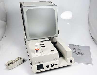 REFLECTA CLASSIC AFM 150 WEISS DIAPROJEKTOR MIT TAGESLICHTBILDSCHIRM MIT ERSATZLAMPE